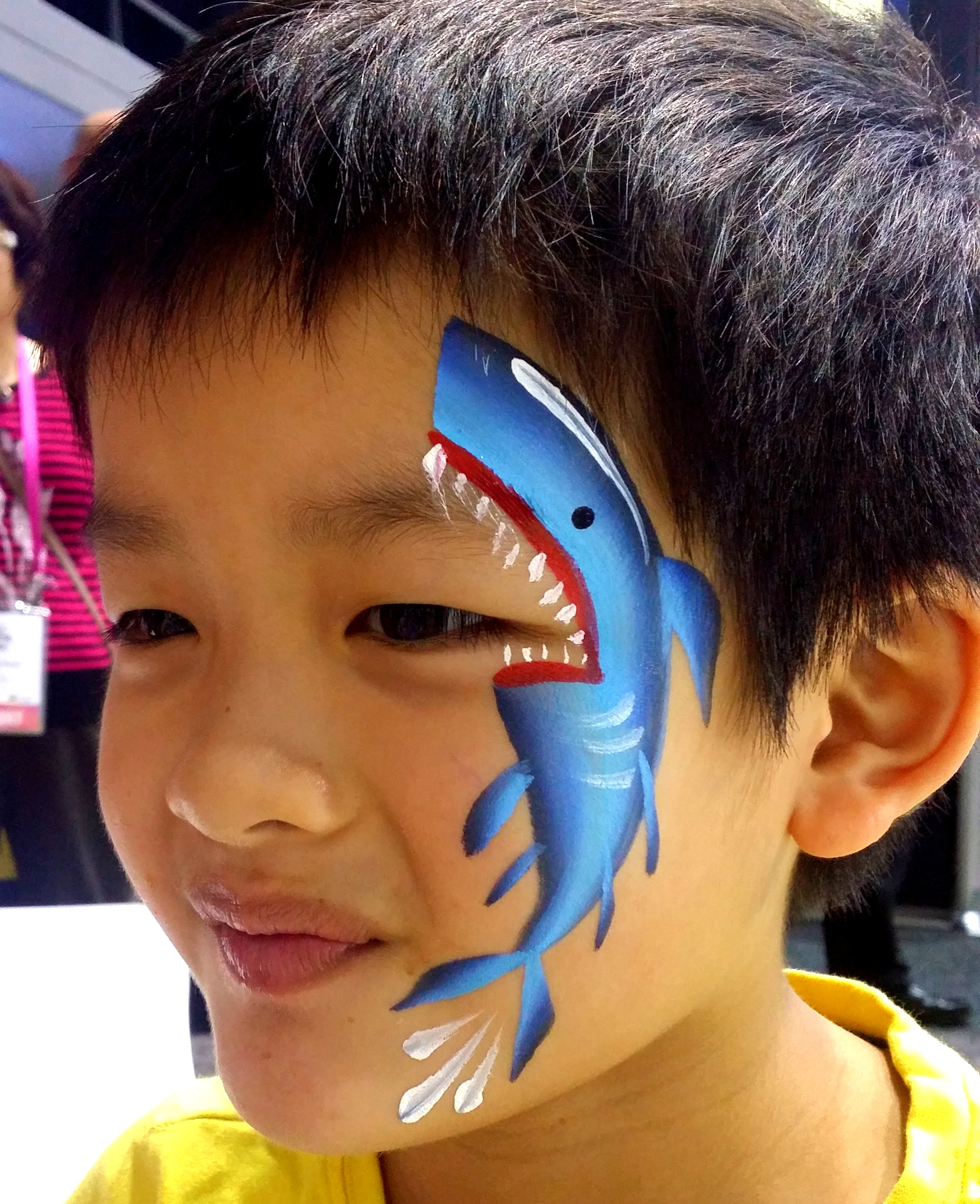 Shark Face Painting Design