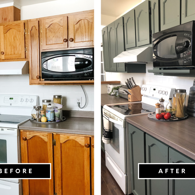 Kitchen Cabinet Transformation