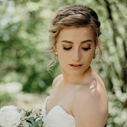 bridal client - photography by Camille Marie Photography
