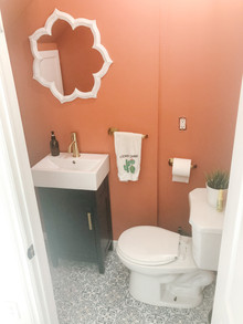 How to refresh a Tiny Bathroom (under the stairs)