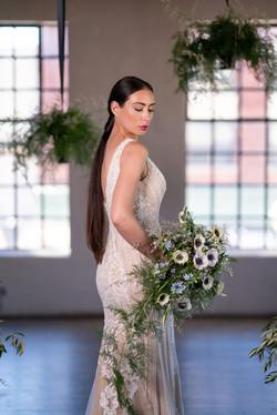 industrial chic wedding shoot