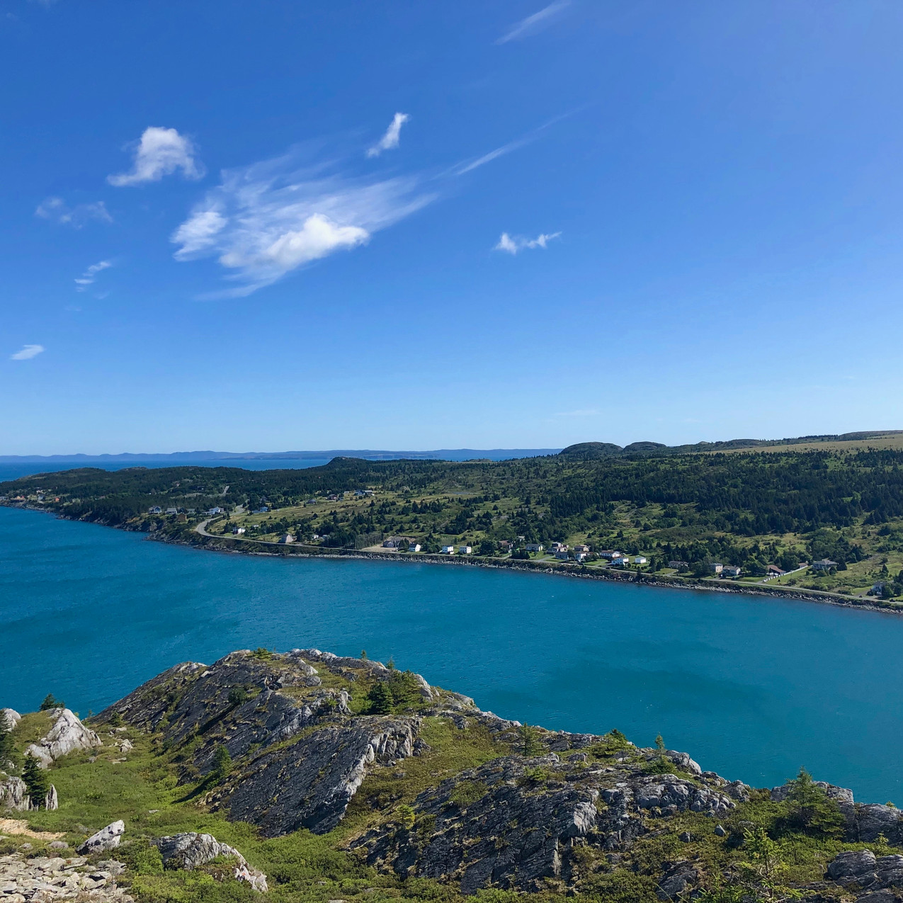 cupids cove view of turquoise waters and blue skies