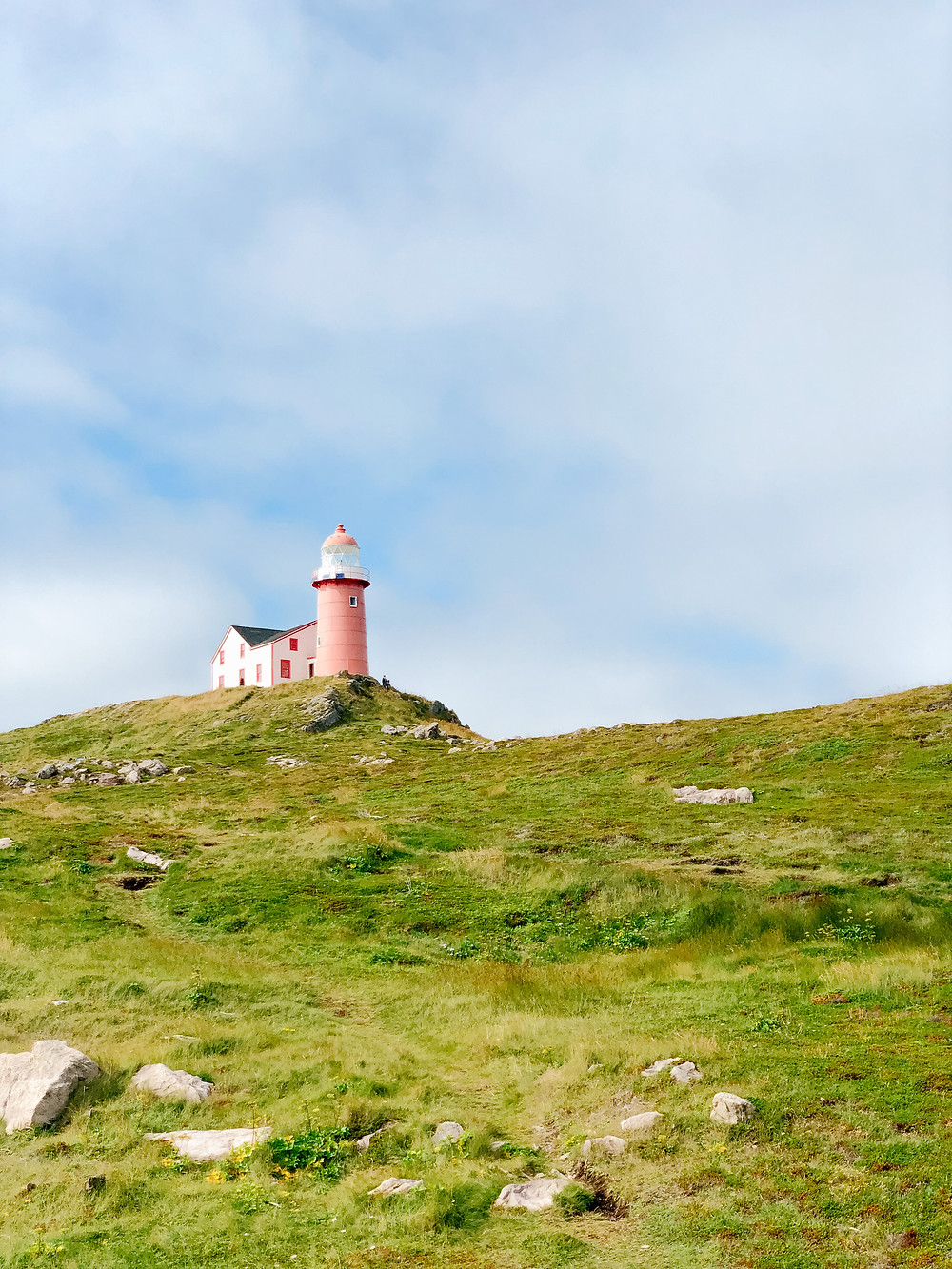 ferryland lighthouse on a sunny day in Newfoundland