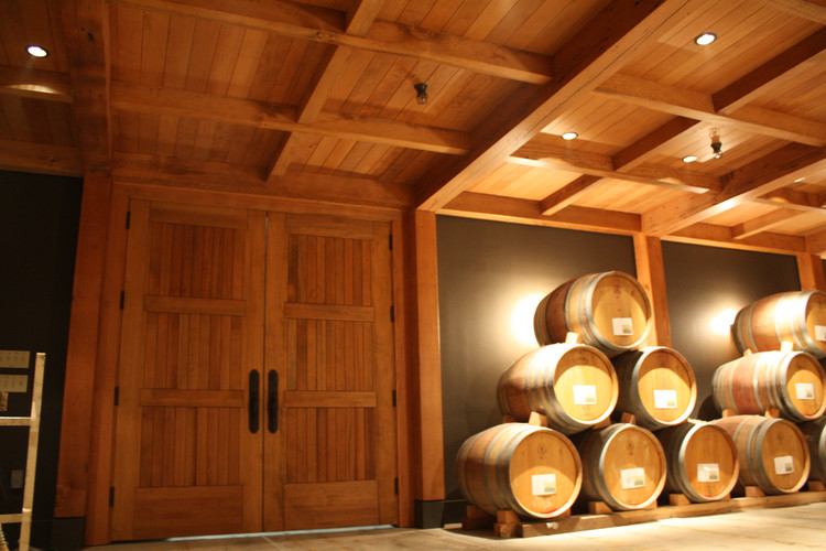 Barrel Room at Willamette Valley Vineyards. Design by Nathan Good Architects