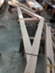 fitting up in the shop, truss