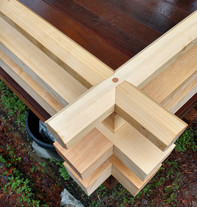 Japanese rail detail, Port Orford Cedar.