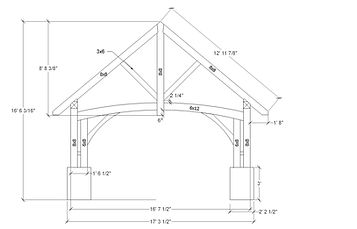 timber frame design, bent design