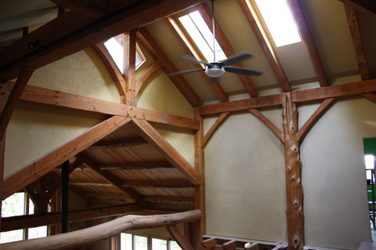 All timber in this home came from the property, was milled on the property, and the joinery done on site as well. Beavercreek, OR