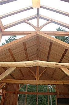 live edge purlins and beams