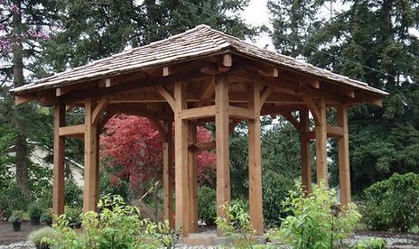 timber framed garden structure