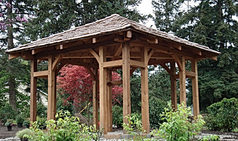 timber framed garden structure