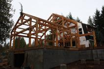 Timber frame house addition, Beavercreek, OR