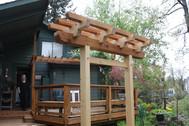 Small garden trellis and gate.  Silverton, OR