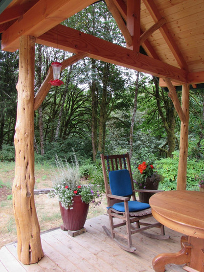 Juniper porch posts with Confluence Design and Construction