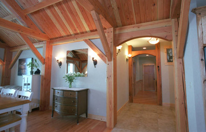 Timber frame and other timber elements, Silverton, OR