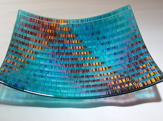 Tapestry Turquoise_gold platter