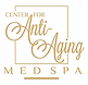 Center for AntiAging logo with gold lettering on white background.
