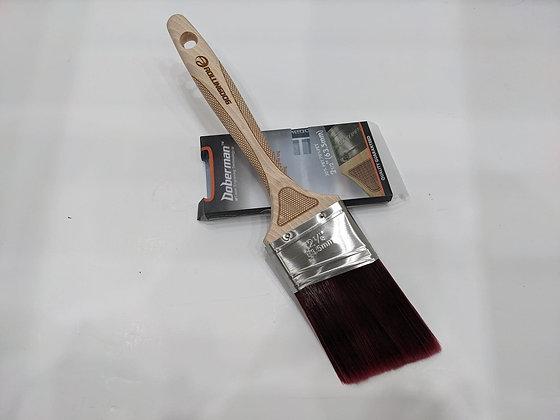 "DOBERMAN™ 2.5"" Laser engraved handle Angular Paint Brush"