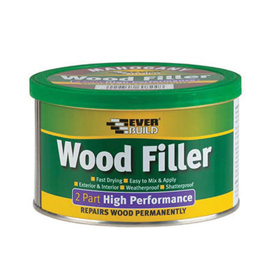2 Part High Performance Wood Filler, 500gm, Light Stainable