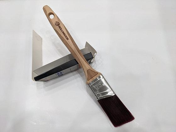 "DOBERMAN™ 1.5"" Laser Engraved Angled Handle Paint Brush"