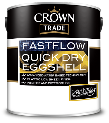 CROWN TRADE FASTFLOW QUICK DRY EGGSHELL