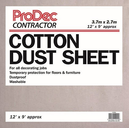 12' x 9' CONTRACTOR COTTON TWILL DUST SHEET