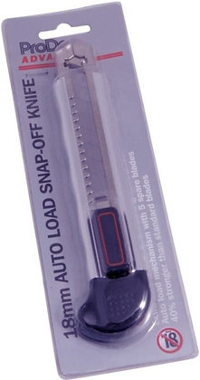 18mm ALUMINIUM AUTO LOAD SNAP OFF KNIFE
