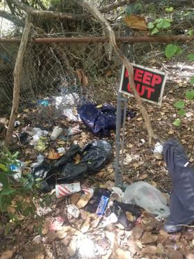 Litter in a city owned culvert near South Bluff Park