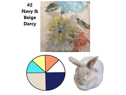 6 Scarves 2021: Jan-June Recap, #2 Navy & Beige, Darcy