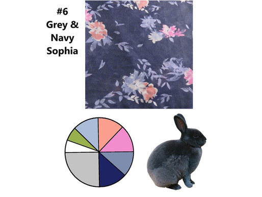 6 Scarves 2021: June Additions, #6 Grey & Navy, Sophia
