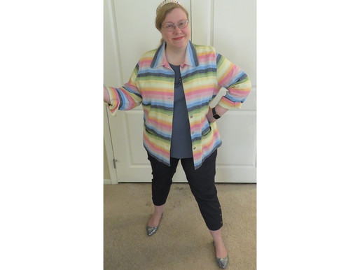 OOTD: Saturated Pastel Striped Jacket