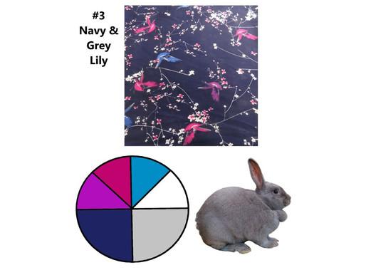 6 Scarves 2021: Jan-June Recap, #3 Navy & Grey, Lily