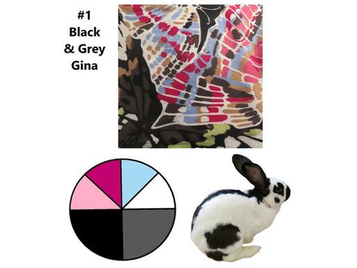 6 Scarves 2021: Jan-June Recap, #1 Black & Grey, Gina