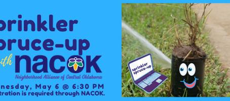 Sprinkler Spruce-Up Workshop: Register Now