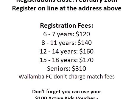 2020 Season Registrations Open January 18th