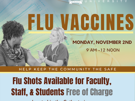 Flu Shots Available for All Employees & Current Students