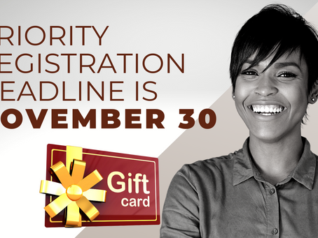 Register by November 20th, Win a Gift Card & More!
