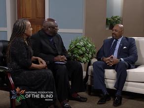 President Huddleston interviewed by Martin Student, Florence Myers McSwine on WHMB-TV40