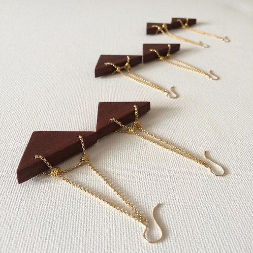 Ava Wooden Drop Earrings