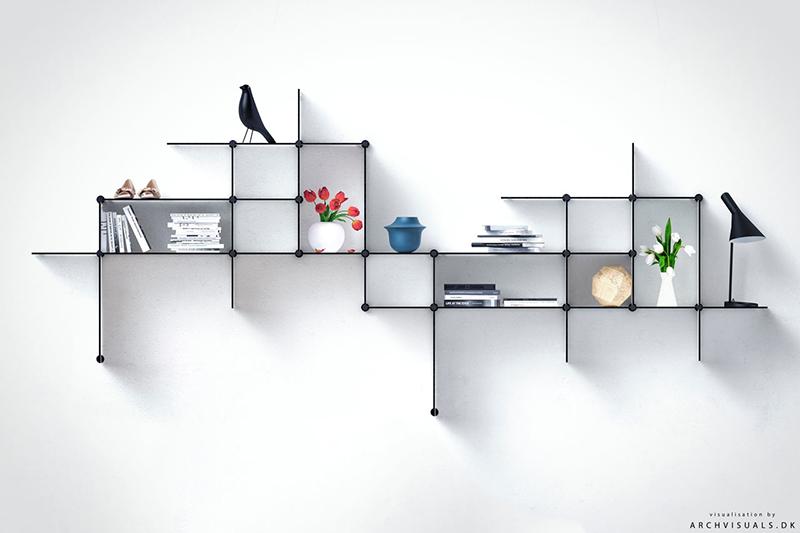 אדריכליסטית-ציפור על מדפים