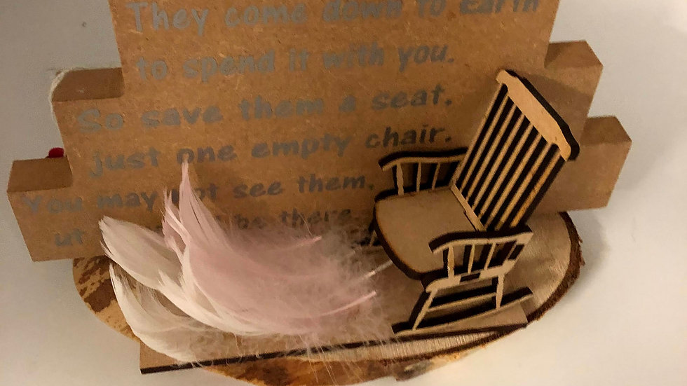 White Feather and Chair
