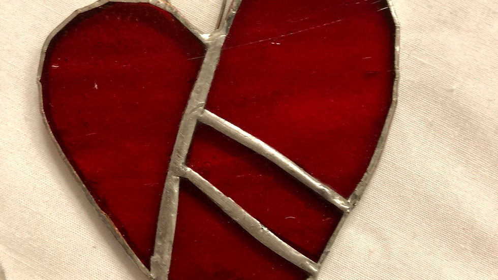 Stained Glass Red Heart