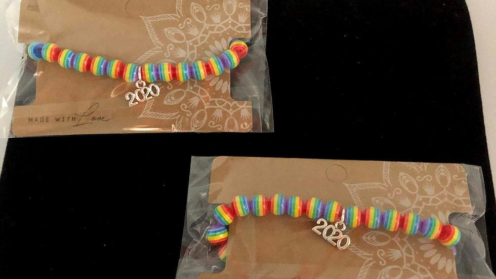 Rainbow Bracelet with 2020 embellisment
