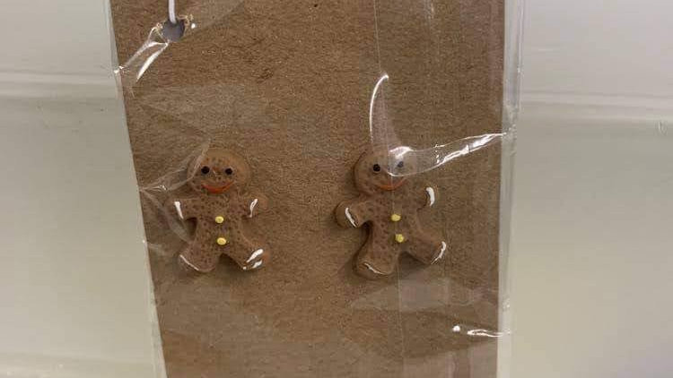 Gingerbread stud earrings