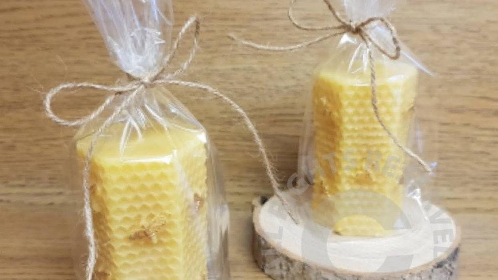 Beeswax Honeycomb Pillar Candle