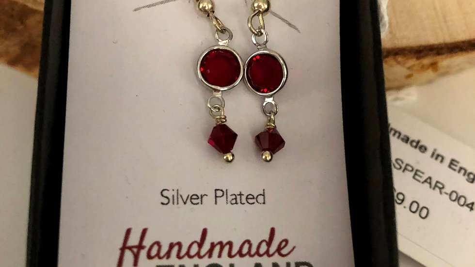 Silver Plate Drop Earrings