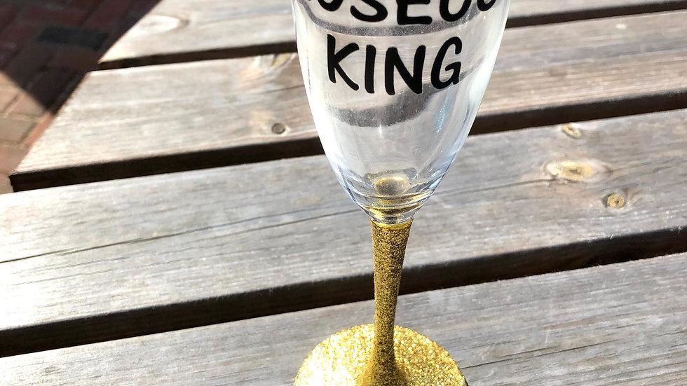 Prosecco glass personalised