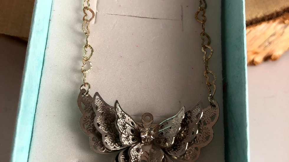 Butterfly Necklace Heart
