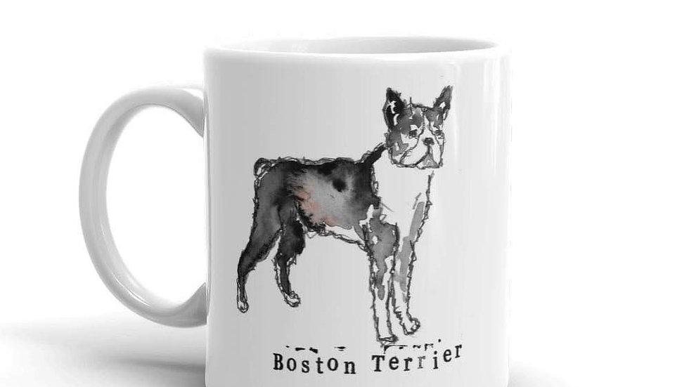 Bulldog china mug