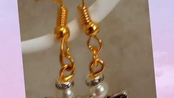 Gold Plated Angel Earrings